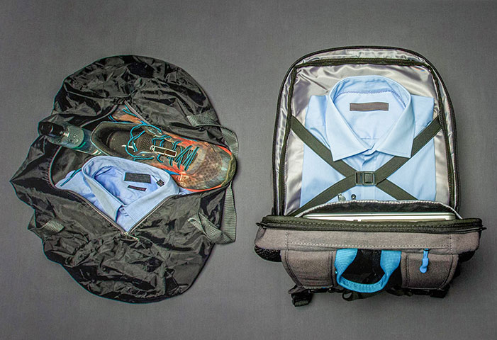 Rucksack compartmentalized Sport